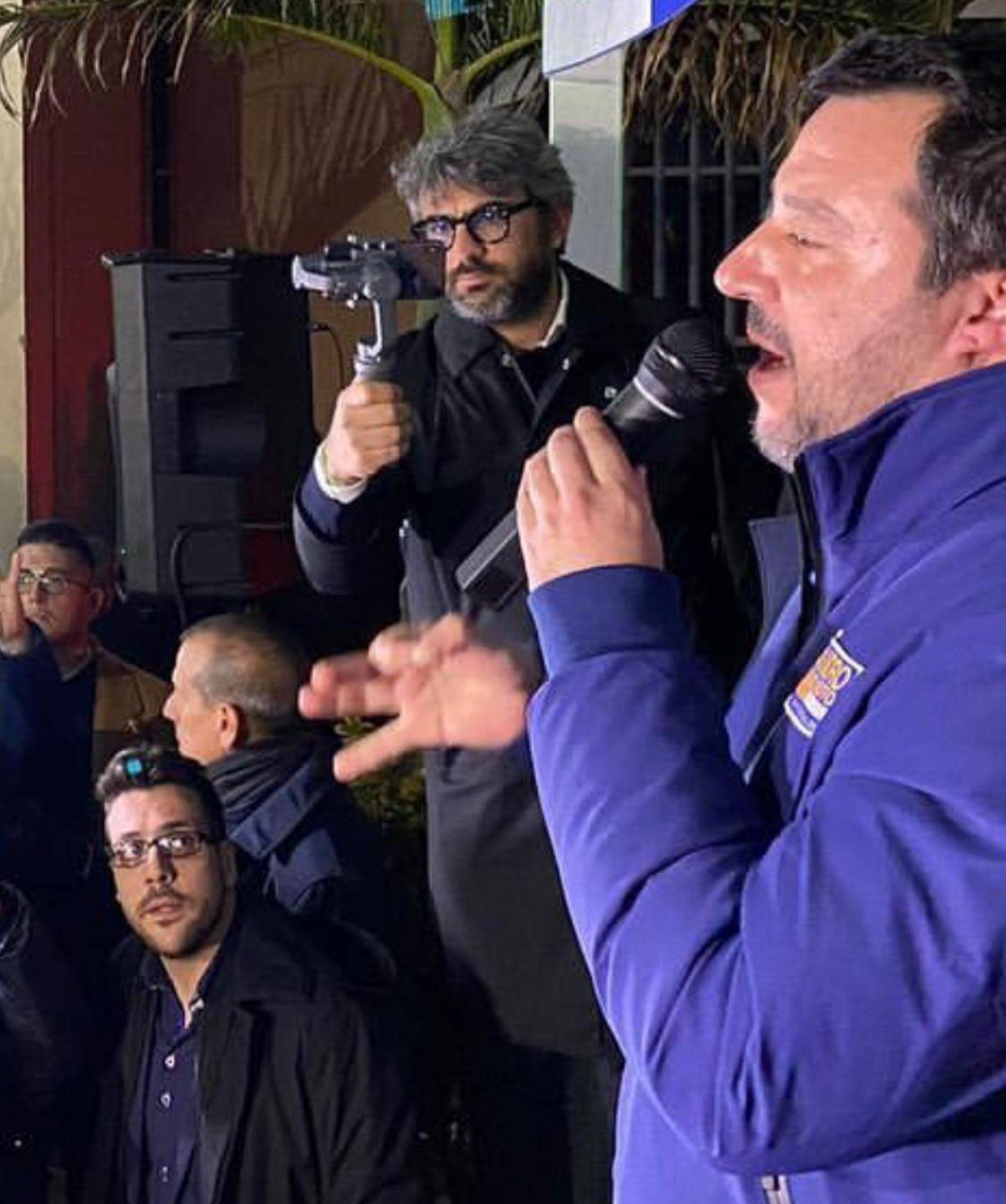 Matteo Salvini a Riace: I leghisti di Riace,abbiamo dato tanto, ma ci hanno abbandonato.