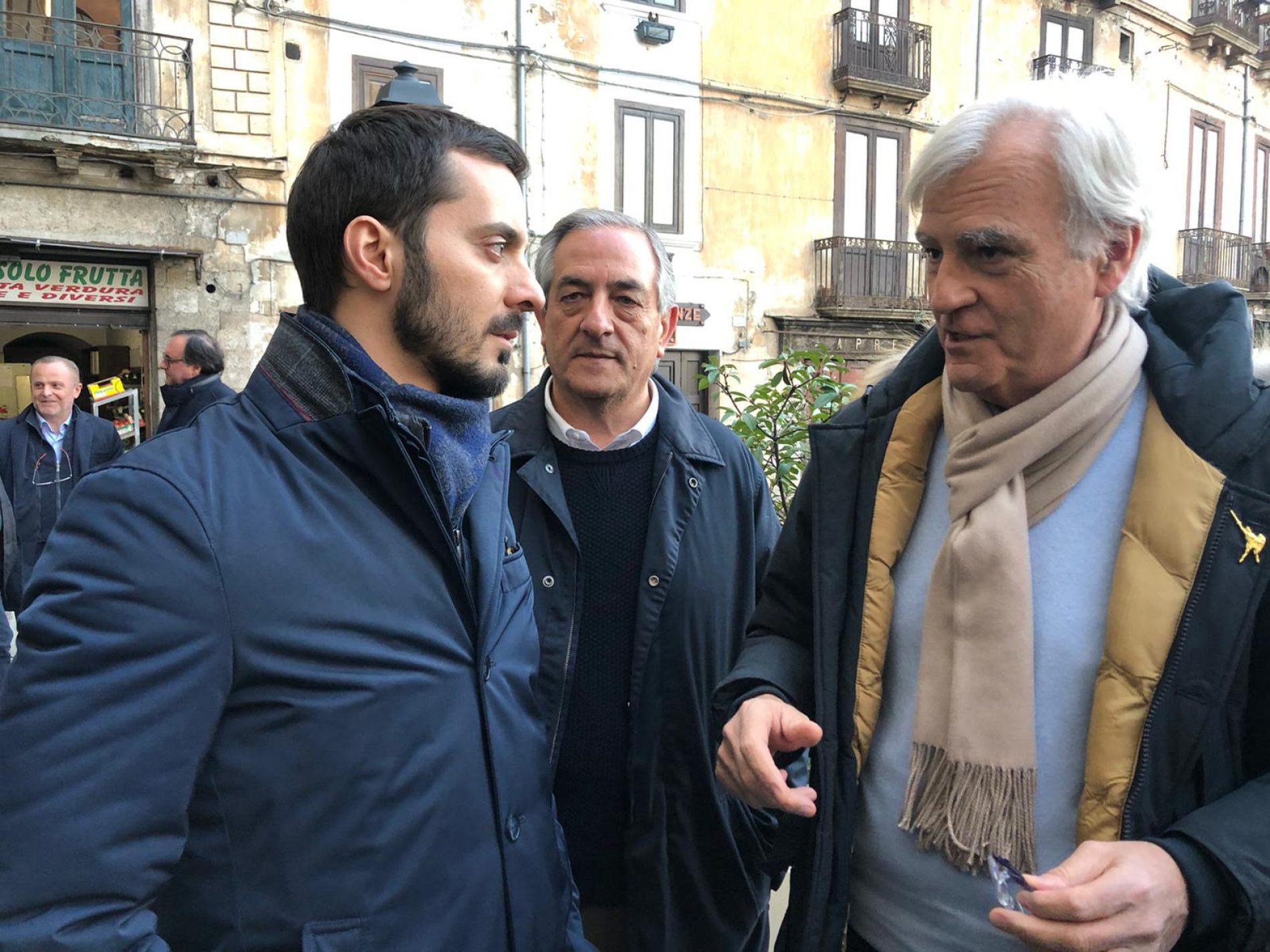 Walter Rauti e il suo vice Cristian Invernizzi negano la parola a Vincenzo Sofo e Antonio Rinaldi