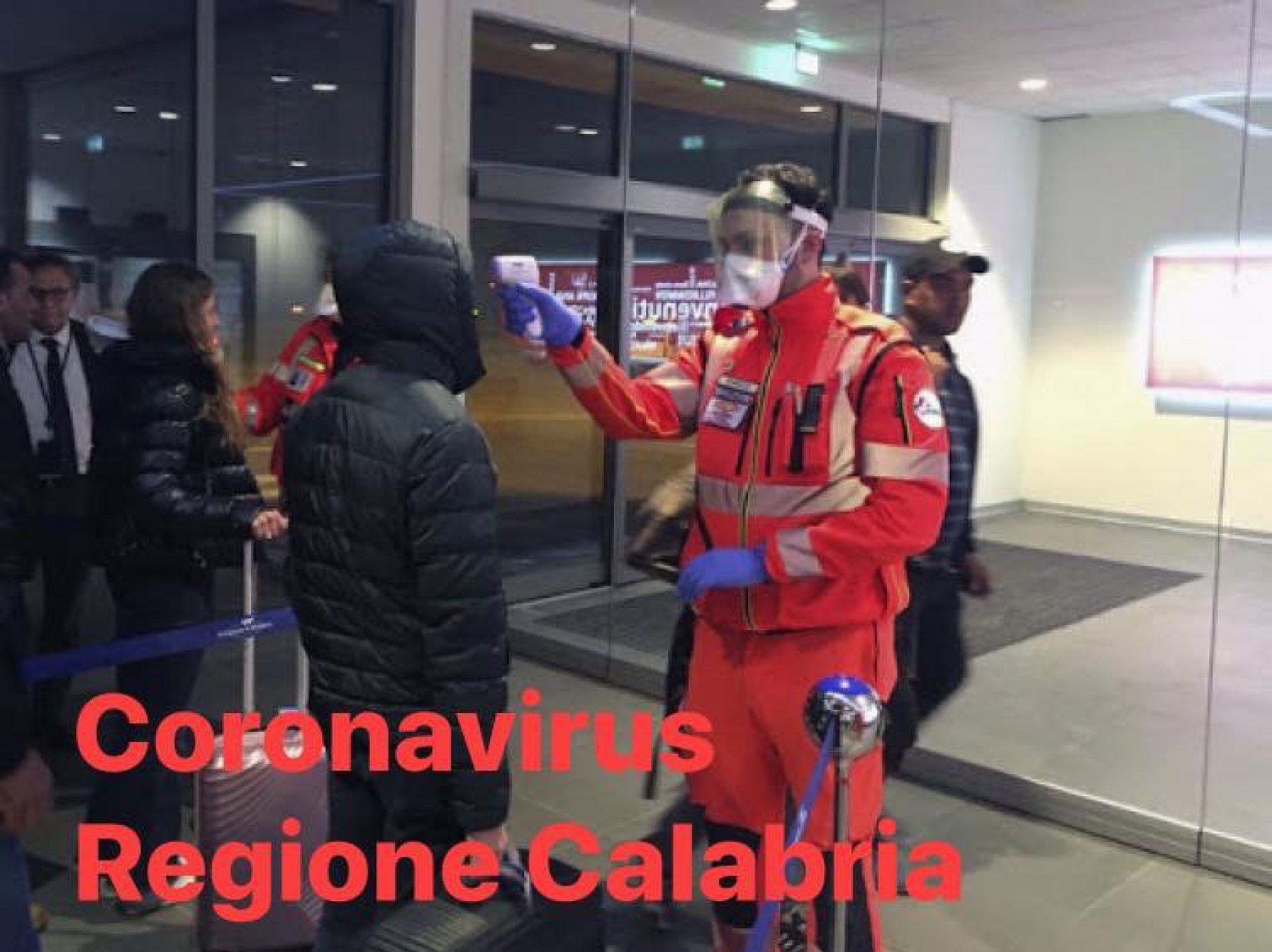 CORONAVIRUS. Aumentano a 7793 le persone giunte in Calabria.
